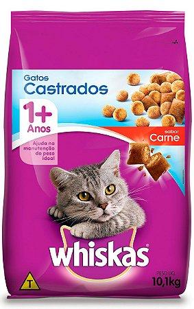 Ração Whiskas Sabor Carne para Gatos Castrados - 10,1Kg