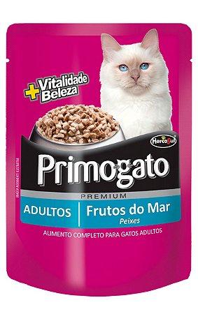 Ração Úmida Primogato Sachê Sabor Frutos do Mar para Gatos Adultos - 85g