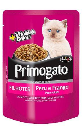 Ração Úmida Primogato Sachê Sabor Peru e Frango para Gatos Filhotes - 85g