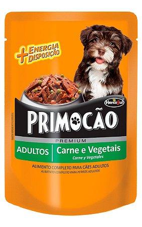 Ração Úmida Primocão Sachê Sabor Carne e Vegetais para Cães Adultos - 100g