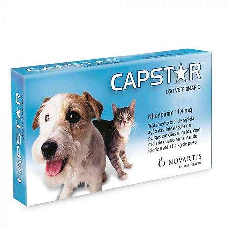 Anti Pulgas Novartis Capstar 11,4mg para Cães e Gatos Até 11,4Kg - 6 comprimidos