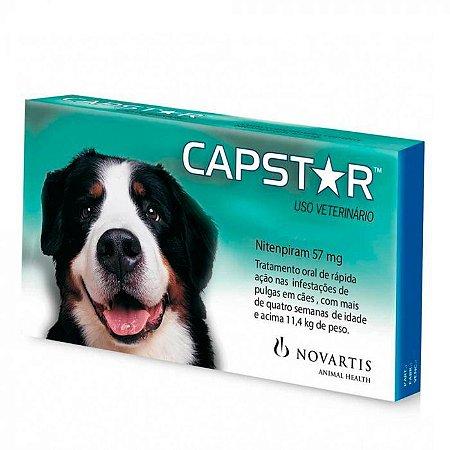 Anti Pulgas Novartis Capstar 57mg para Cães de 11 a 57Kg - 6 comprimidos