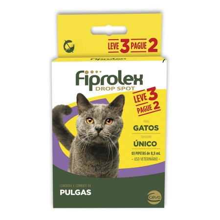Antipulgas Fiprolex Drop Spot Ceva para Gatos - Leve 3 Pague 2