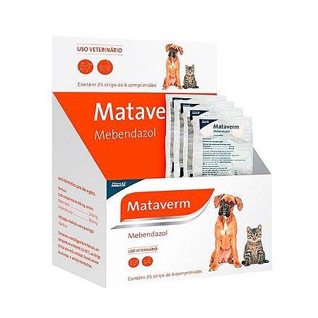 Vermífugo Mataverm C/ 6 Comprimidos - PROVETS