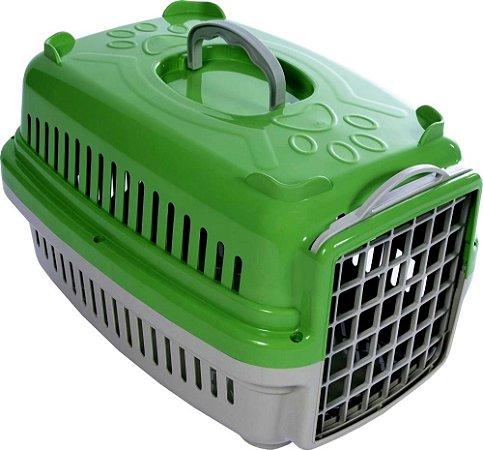 Caixa Transporte Cães e Gatos Verde Pata Forte - N. 1