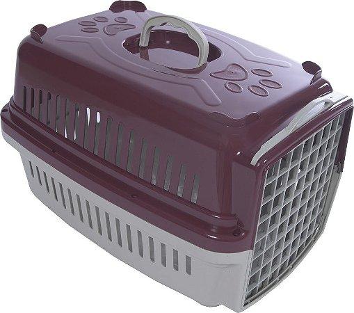 Caixa Transporte Cães e Gatos Vinho Pata Forte - N. 2