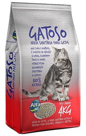 Areia Sanitária Gatoso para Gatos - 4Kg