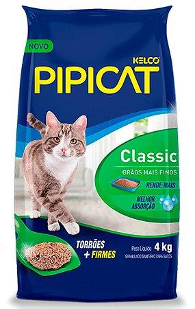 Areia Higiênica Pipicat Classic para Gatos - 4Kg