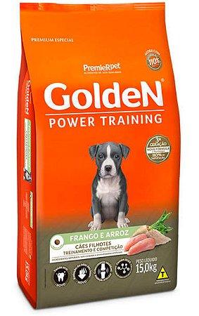 Ração Premier Golden Power Training Cães Filhotes Frango e Arroz - 15Kg