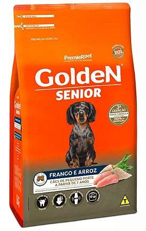 Ração Golden Fórmula Mini Bits Senior para Cães Adultos de Pequeno Porte Sabor Frango e Arroz - 3Kg