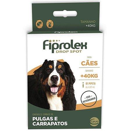 Antipulgas e Carrapatos Fiprolex Drop Spot Ceva para Cães Acima de 40kg