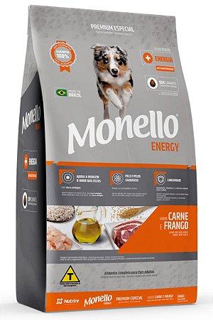 Ração Monello Energy para Cães Adultos Sabor Carne e Frango - 15kg