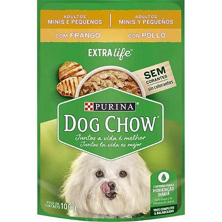 Ração Úmida Nestlé Purina Dog Chow Sachê Sabor Frango para Cães Adultos Raças Minis e Pequenas - 100g