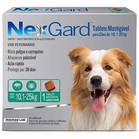 Nexgard Antipulgas E Carrapatos Cães 10,1 A 25kg C/1 Comprimido Avulso