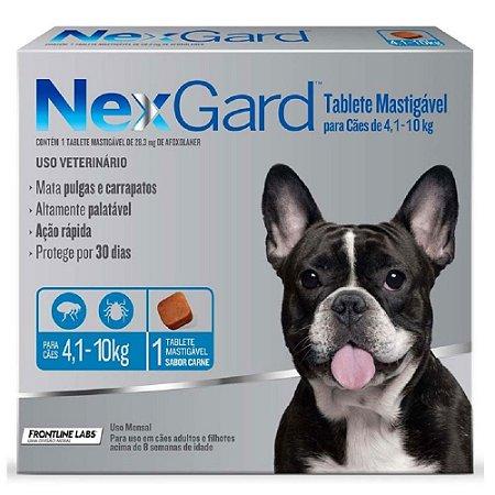 Nexgard Antipulgas e Carrapatos Cães 4,1 a 10kg C/1 Comprimido Avulso