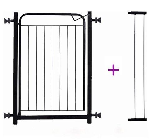 Grade Portão de Proteção Pet para Portas de 70 e 80 cm com extensor de 10 cm grátis - Power Pets