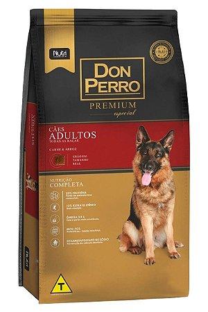 Ração Don Perro Premium Especial Sabor Carne e Arroz para Cães Adultos - 15Kg
