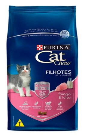 Ração Cat Chow Sabor Frango e Leite para Gatos Filhotes - 10,1Kg