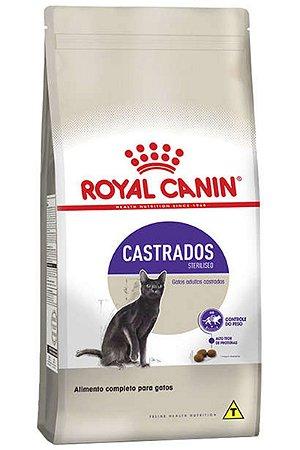 Ração Royal Canin Sterilised para Gatos Adultos Castrados - 400g, 1,5Kg ou 10,1Kg