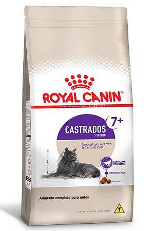 Ração Royal Canin Sterilised 7+ para Gatos Adultos Castrados acima de 7 anos - 400g ou 1,5Kg