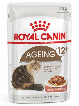 Ração Úmida Royal Canin Sachê Feline Ageing 12+ para Gatos Adultos acima 12 anos - 85g