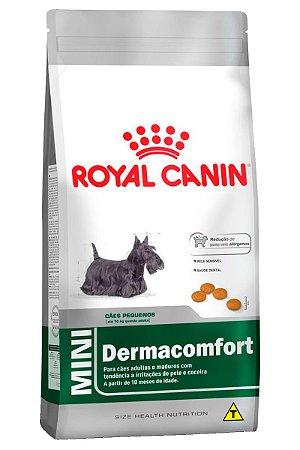 Ração Royal Canin Mini Dermacomfort para Cães Adultos de Raças Pequenas com Tendência a Irritações de Pele e Coceira - 1Kg ou 2,5Kg