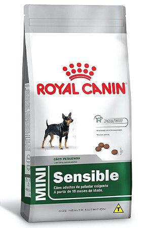 Ração Royal Canin Mini Sensible para Cães Adultos de Raças Pequenas de Paladar Sensível - 2,5Kg