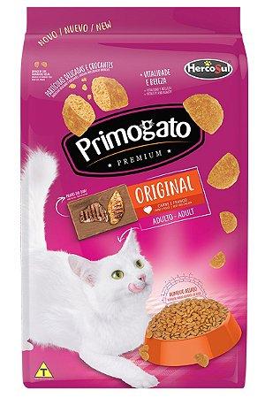 Ração Primogato Premium Original Sabor Carne e Frango para Gatos Adultos - 10,1kg