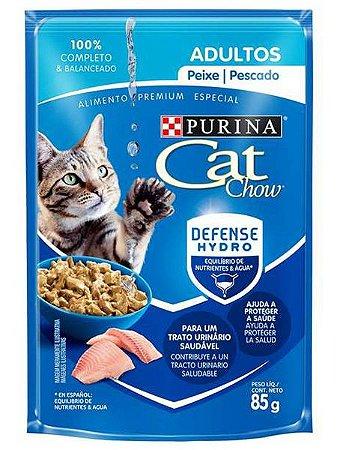 Ração Úmida Nestlé Purina Cat Chow Sachê Sabor Peixe para Gatos Adultos - 85g