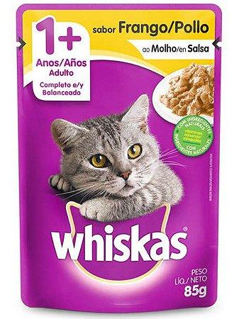 Ração Úmida Whiskas Sachê Sabor Frango ao Molho para Gatos Adultos - 85g