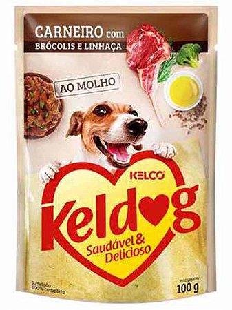 Ração Úmida Keldog Sachê Sabor Carneiro com Brócolis e Linhaça para Cães Adultos - 100g