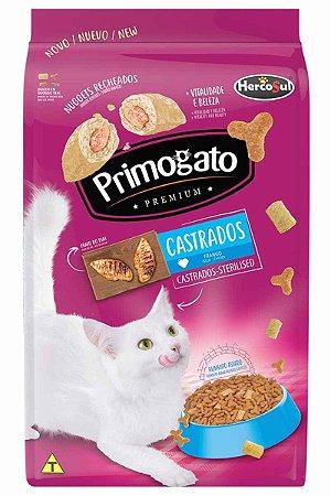 Ração Primogato Premium Sabor Frango para Gatos Castrados - 10,1kg