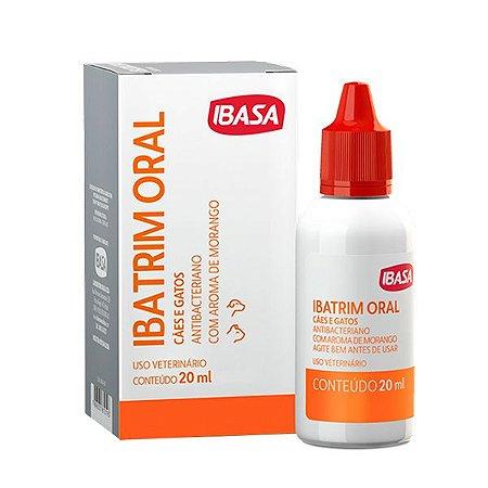 Antibacteriano Ibatrim Oral Ibasa para Cães e Gatos - 20ml