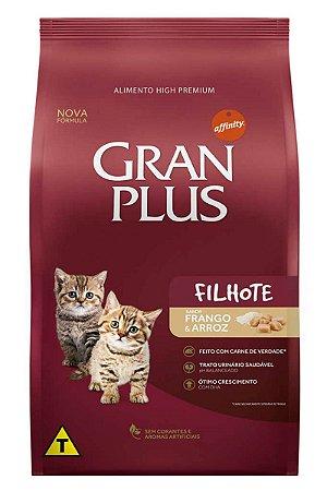 Ração GranPlus Super Premium Sabor Frango e Arroz para Gatos Filhotes - 3Kg