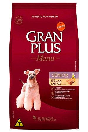 Ração GranPlus Menu Super Premium Sabor Frango e Arroz para Cães Sênior - 3kg