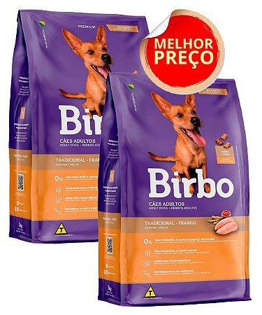 COMBO 30kg de Ração Birbo Premium Tradicional para Cães Adultos (2x 15kg)