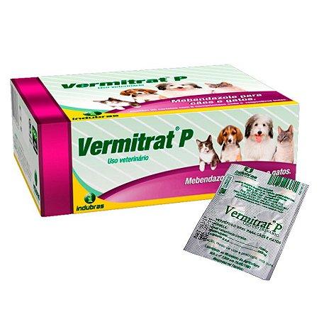 Vermífugo Vermitrat P para Cães e Gatos -  6 Comprimidos