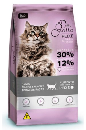 Ração Del Gatto para Gatos Adultos e Filhotes Sabor Peixe - 7Kg e 25kg
