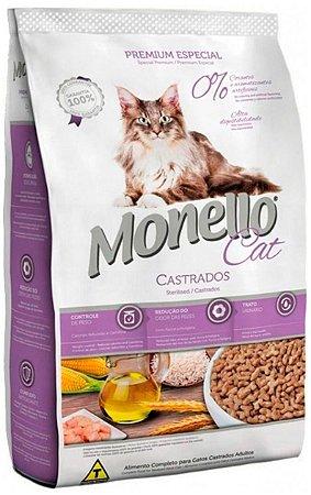 Ração Monello Cat para Gatos Adultos Castrados - 1Kg ou 10,1Kg
