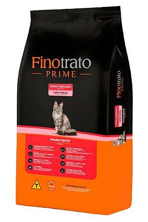 Ração Finotrato Prime Premium Especial Sabor Salmão para Gatos Castrados - 10,1kg