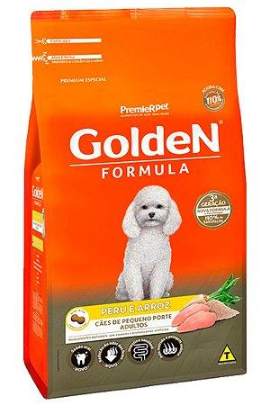 Ração Golden Formula Peru e Arroz Mini Bits para Cães Adultos de Raças Pequenas - 3Kg