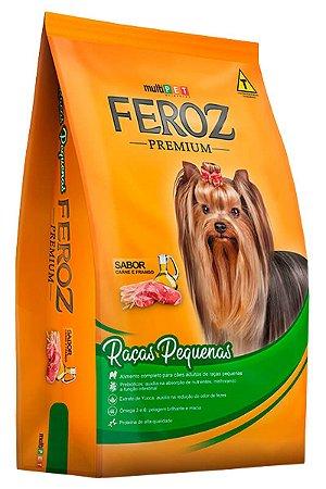 Ração Feroz Premium Sabor Carne e Frango para Cães Adultos de Raças Pequenas - 8Kg