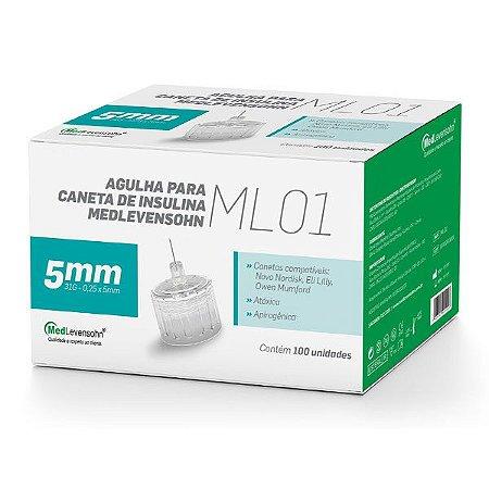 Agulha Caneta De Insulina Medlevensohn - 31g 5mm - 100 Unidades