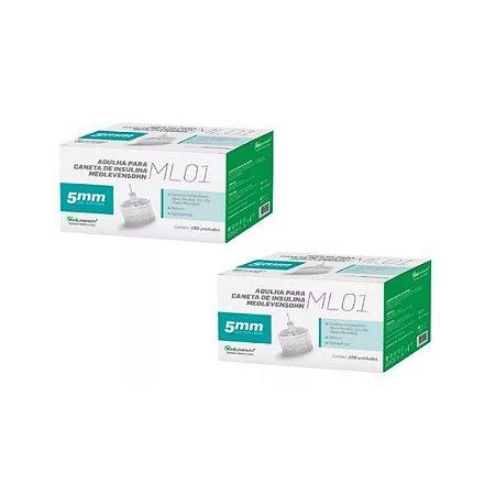 Agulha Caneta De Insulina Medlevensohn - 31g 5mm - 200 Unidades