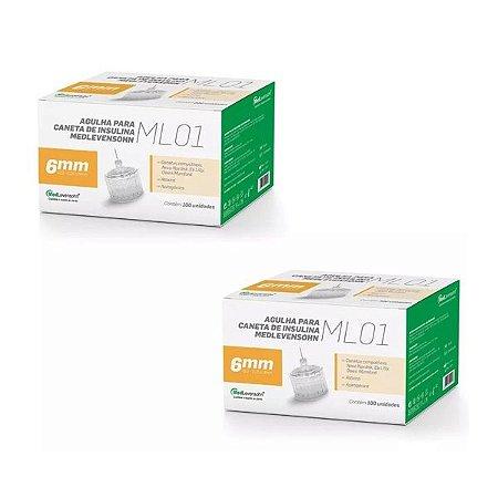 Agulha Caneta De Insulina Medlevensohn - 31g 6mm - 200 Unidades