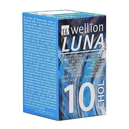 Tiras Teste Colesterol Monitor Luna Duo Wellion 10 unidades