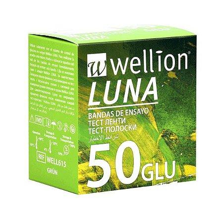 Tiras Teste Medidor De Glicose Wellion Luna - 50 Unidades