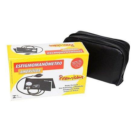 Aparelho Medidor De Pressão Esfigmomanômetro Premium Azul