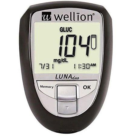 Wellion Luna Duo Monitor De Colesterol E Glicemia Preto