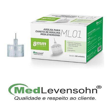 Agulha Caneta Insulina Medlevensohn Ml01 31g 8mm - 100un